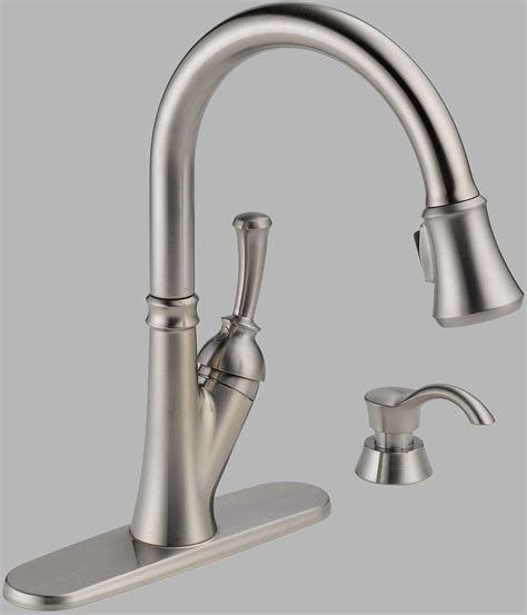 delta savile stainless 1 handle pull kitchen faucet kitchen delta savile single handle pull kitchen
