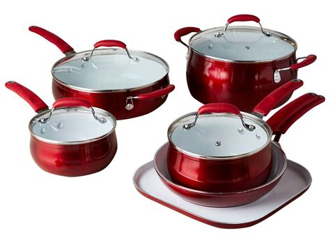 cookware ceramic tasty nonstick stick non titanium reinforced kitchen walmart 11pc sets consumer reports exclusive consumerreports