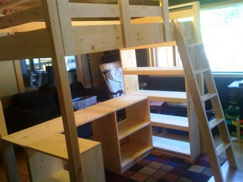 queen size bunk bed with desk loft bed with desk ikea woodworking projects plans