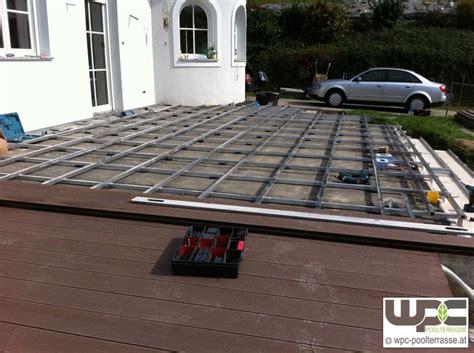 terrasse wpc unterkonstruktion bilder wpc aluminium alu unterkonstruktion f 252 r terrassendielen wpc terrasse balkon wpc