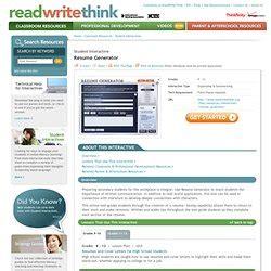 Resume Generator Tool by Tech Tools Miriamsalazar Pearltrees