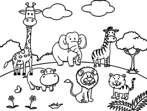 Coloring Zoo Animals by Zoo Coloring Pages Animal Coloring Pages Zoo Coloring