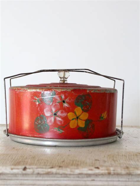 vintage cake carrier food drink cake storage