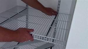 Install Closetmaid Shelftrack