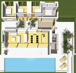 Modernes Haus Grundriss : moderne h user grundriss mit pool ~ Lizthompson.info Haus und Dekorationen