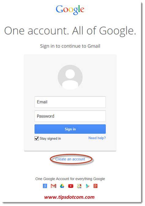 Create A Gmail Account Here
