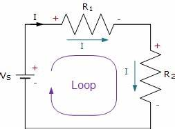 kirchhoffs voltage law basic electronics tutorials With need a basic understanding of how electricity flows around a circuit