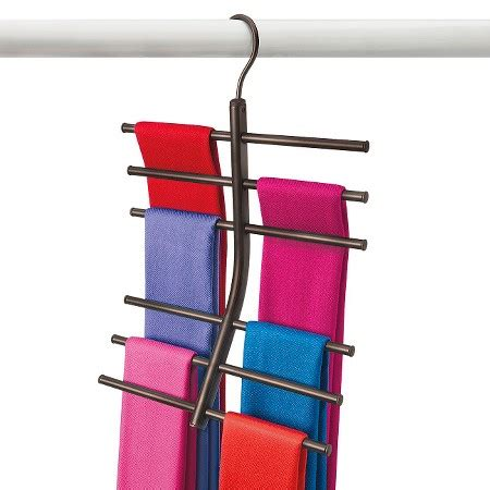 lynk hanging tiered scarf holder closet hanger
