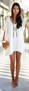 Street Style White Dress With A Touch Of Boho Chic What