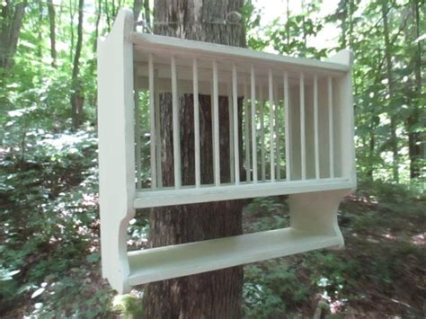 hanging plate rack compact  farmhouse plate rackholds  plates country kitchen wall