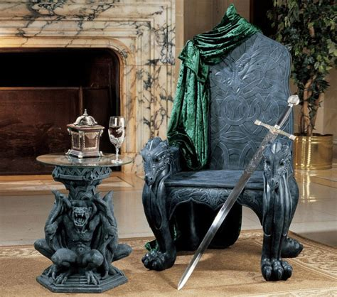 celtic dragon throne  green head