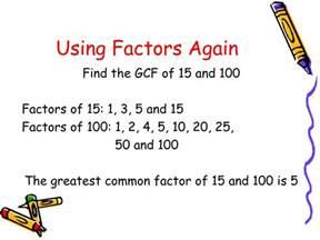 Greatest Common Factor Using Prime Factorization