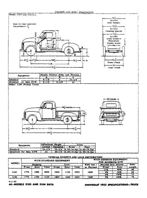 chevrolet specifications
