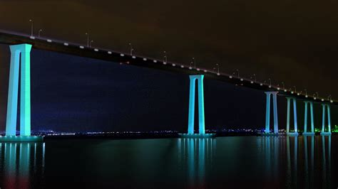 coronado bridge lighting moving  design phase  san