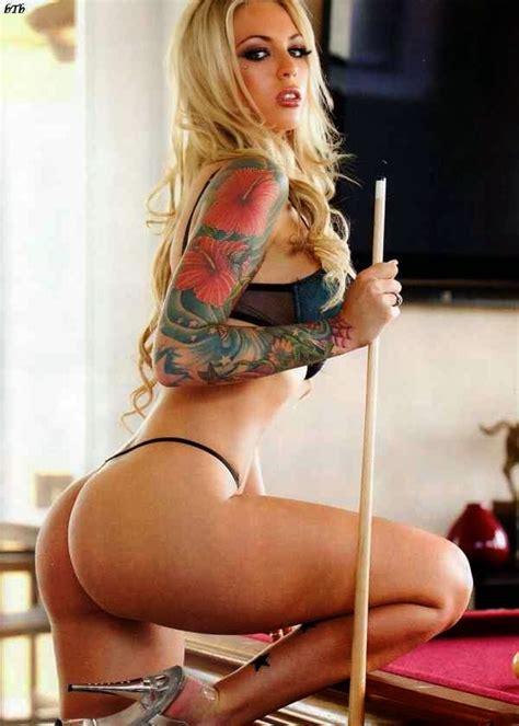 sexy tattooed model  dj megan daniels