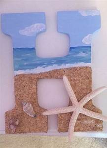 beach themed wooden letter for my little my sorority With beach themed letters