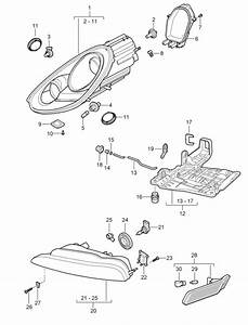 Buy Porsche Boxster 986  987  981 Headlamp Parts  U0026 Lens