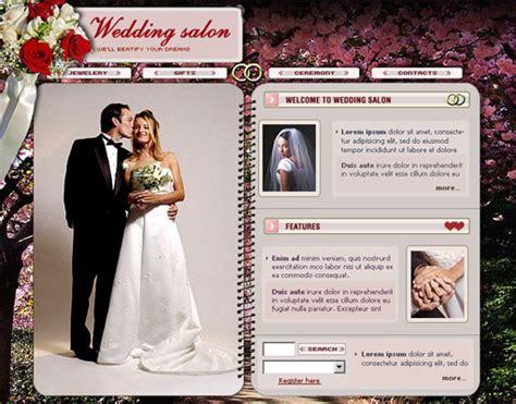 free wedding website templates 18 free lovely wedding website templates designfreebies