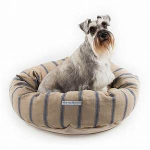mutts and hounds navy nordic stripe linen donut dog bed With scandinavian dog bed