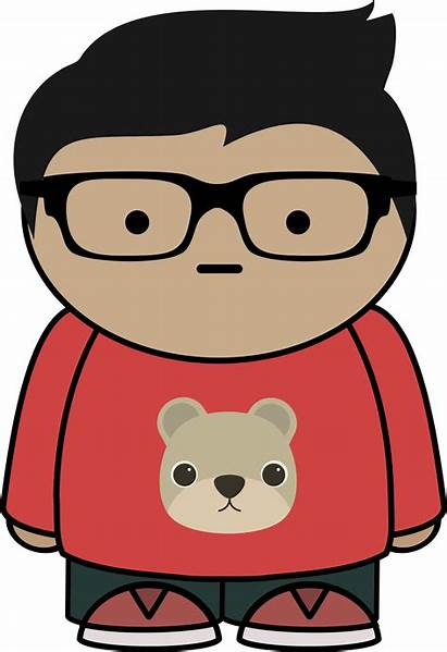 Glasses Boy Clipart Kid Cartoon Clip Vector