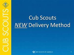 cub scout new delivery program authorstream With boy scout powerpoint template