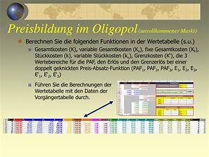 Grenzkosten Berechnen : ppt preisbildung im oligopol unvollkommener markt powerpoint presentation id 492222 ~ Themetempest.com Abrechnung