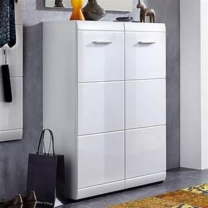Placard à Chaussures : meuble a chaussures blanc laqu alama ~ Teatrodelosmanantiales.com Idées de Décoration