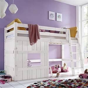 Kinderzimmer Für Zwei Mädchen : hochbett aus holz mit leiter f r m dchen kids paradise ~ Sanjose-hotels-ca.com Haus und Dekorationen