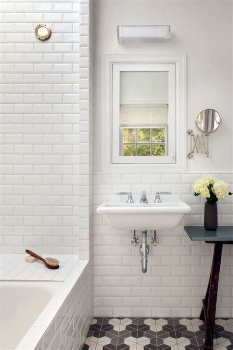 subway tile wainscoting bathroom good looking glossy white subway tile with wainscoting bathroom black and