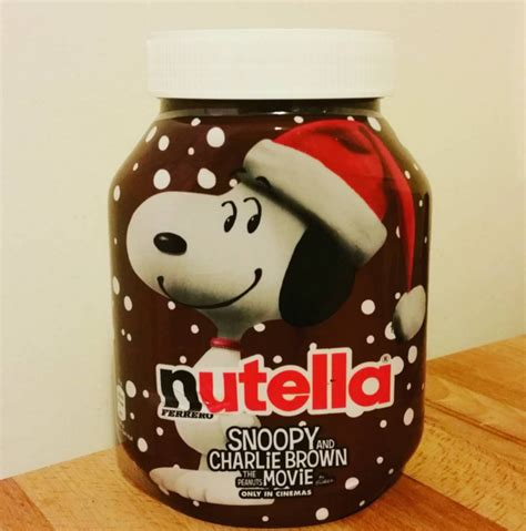 pot de nutella noel snoopy x nutella archives lili dans ses baskets