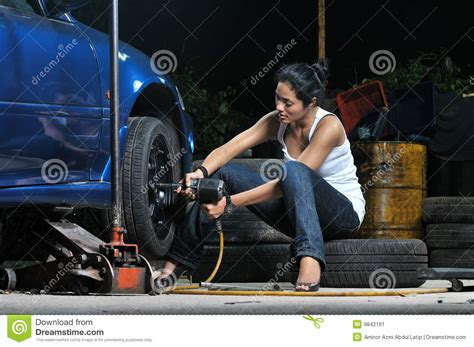 Frau In Garage by Garage Stock Image Image Of Malaysian Automotive