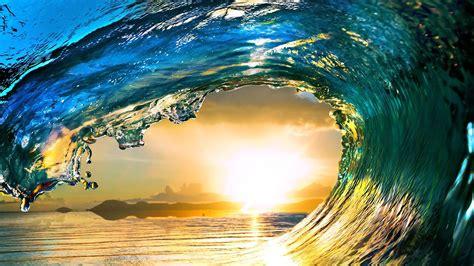 Ocean Wave At Dawn Hd Wallpaper