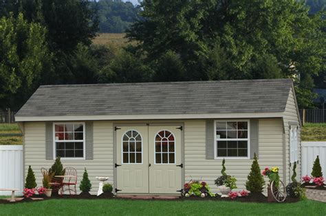 Delaware Sheds And Barns by Large Vinyl Shed For Delaware Traditional Garage And