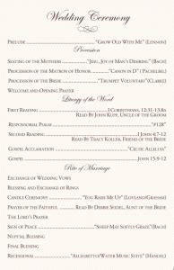 sample christian wedding ceremony wedding ceremony