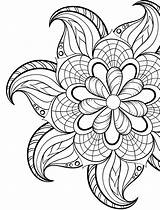 Coloring Pages Sheets Adult Printable Mandala Easy Simple Flower Books Nerdymamma Doodle sketch template