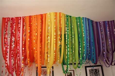 Decorating Ideas With Streamers by Be Different Act Normal Rainbow Streamers Decor