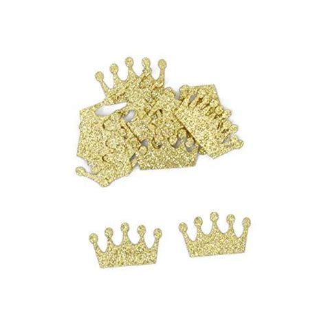 amazoncom gold glitter paper crown confetti  pieces