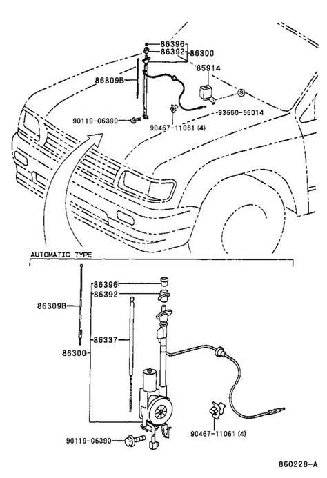 2002 Toyota Tacoma Radio Antenna Mast - 863090C020