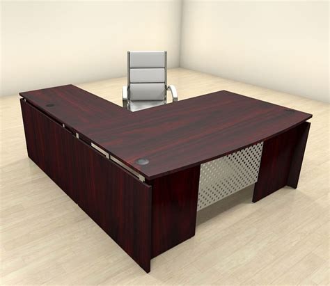 contemporary l shaped desk 3pc modern l shaped contemporary executive office desk set