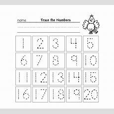 Trace Numbers 1 20 For Your Beloved Preschool Or Kindergarten Kids Learn How To Trace And Count