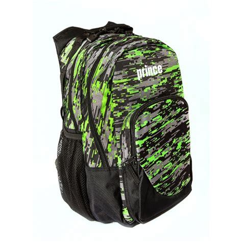 prince team backpack blackgreen   tennis