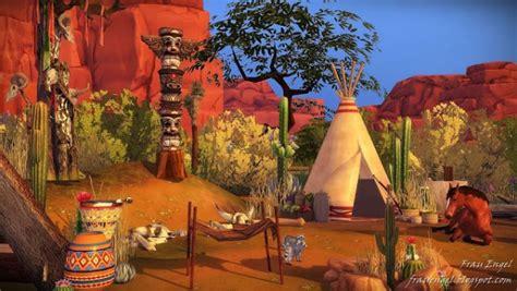 frau engel native american village sims  downloads