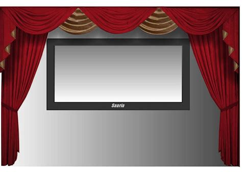 Home Curtain : Saaria Velvet Curtains Movie Screen Home Theater Stage
