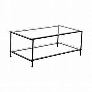52 off rectangular glass and metal coffee table tables With glass and metal rectangular coffee table