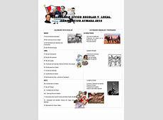 Calendario civico escolar y comunal 2014