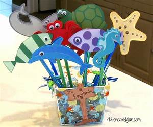 Under the Sea Pencil Toppers - Ribbons & Glue