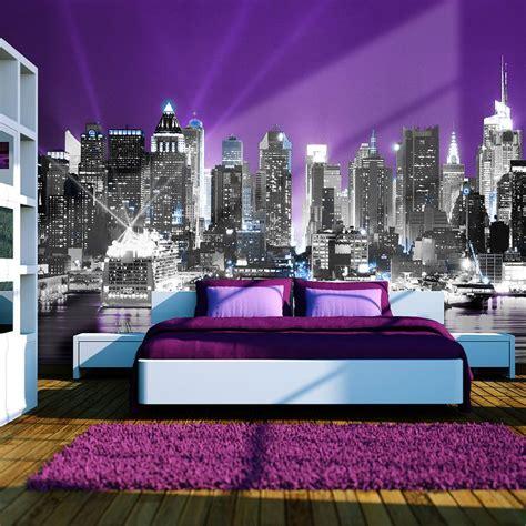 Decoration Maison New York Chambre Violet Et Gris New York Recherche
