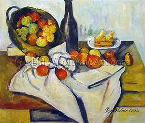 Paul Cezanne - Still Life With Basket Of Apples - Oil ...