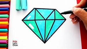 cómo hacer un dibujo de un diamante utilizando una regla