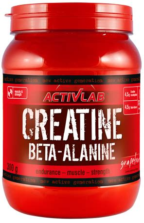 zma powder form activlab creatine beta alanine 300g powder muscle mass